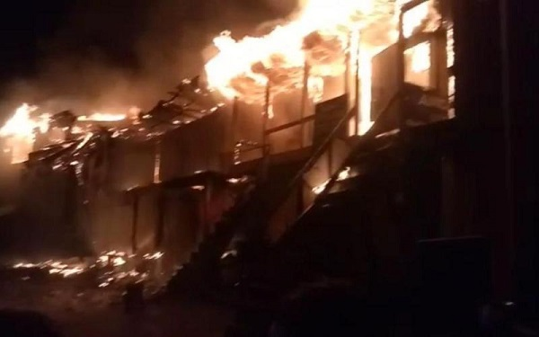 Over two dozen shops, residential house gutted in midnight blaze in Banihal
